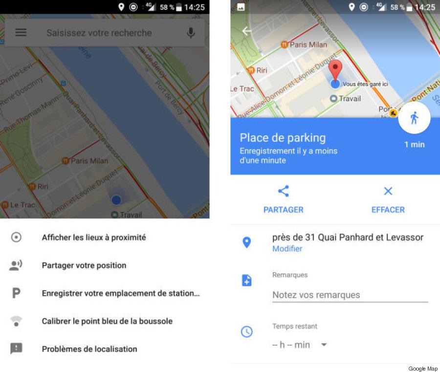 google parking