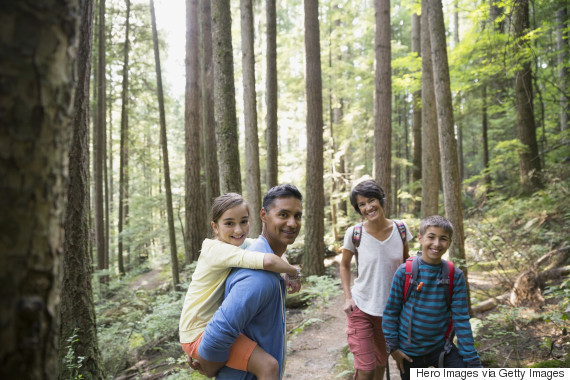indian family in nature