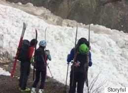 ► B.C. Skiers Stumble Upon Massive Avalanche