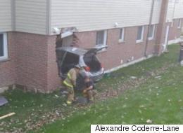 Une voiture fonce dans une résidence à Sherbrooke