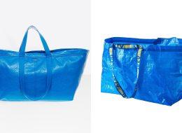 الأصلي بـ1 دولار والمقلّد بألفي دولار.. ماركة عالمية مشهورة تسرق حقيبة إيكيا الزرقاء