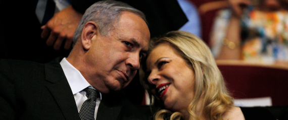 NETANYAHU AND HIS WIFE