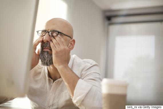 tired office worker older