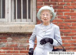 이 할머니는 엘리자베스 여왕을 연상시킨다