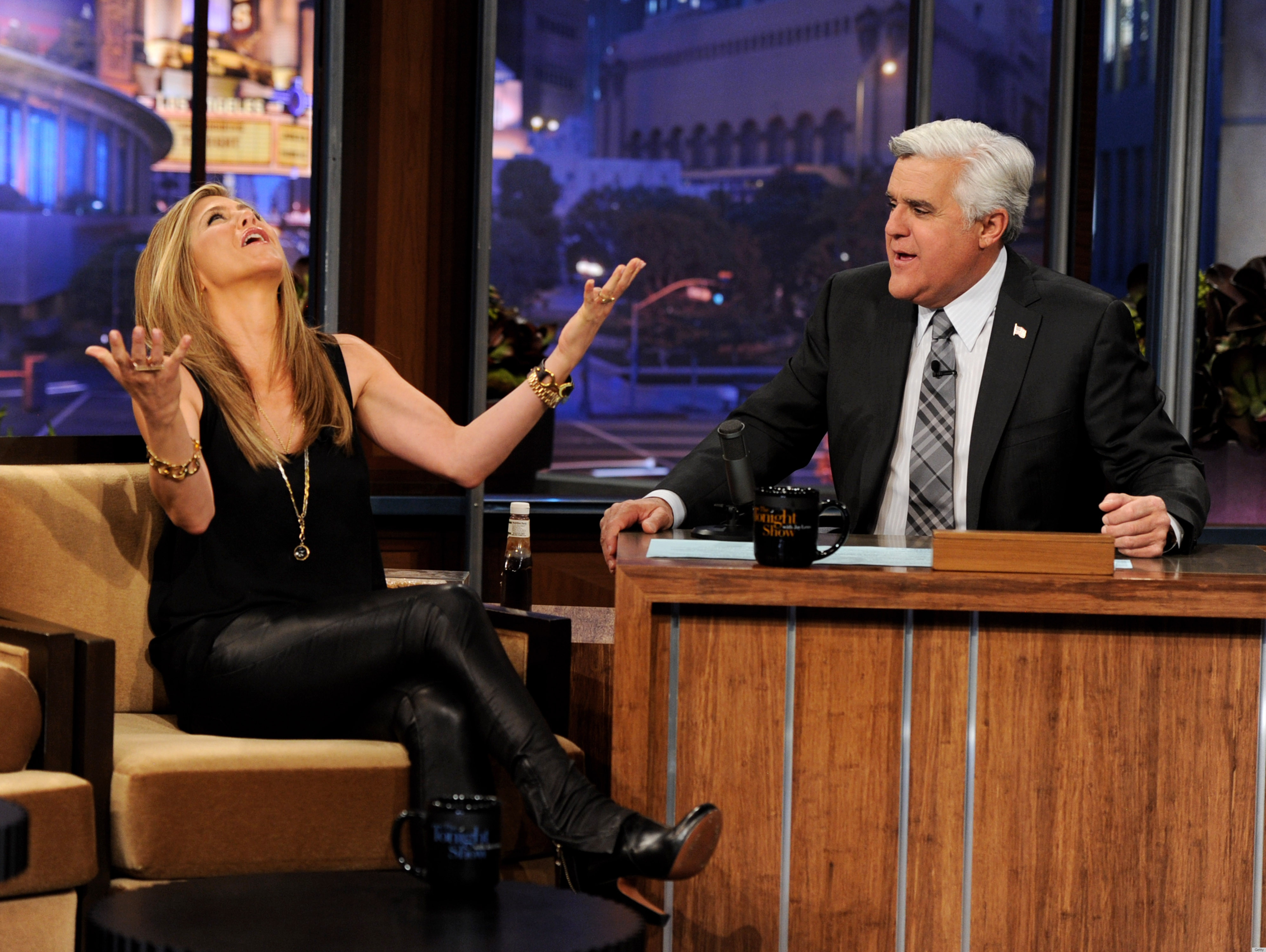 Jennifer Aniston Leather Leggings On 'The Tonight Show': Hit Or Miss ...