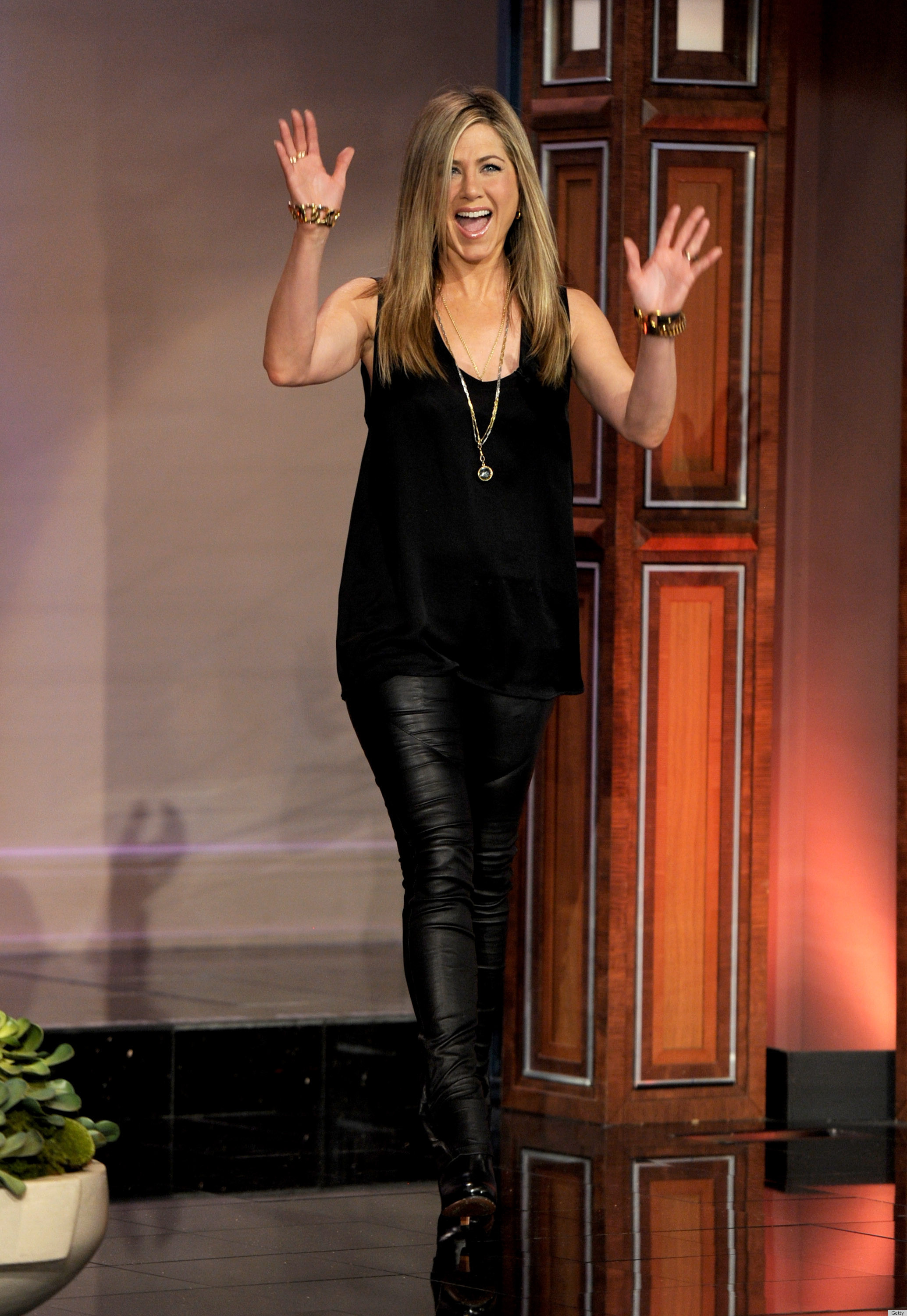 Jennifer Aniston Leather Leggings On 'The Tonight Show': Hit Or Miss