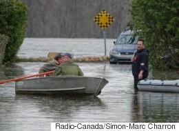 Les inondations atteignent l'ouest de Montréal