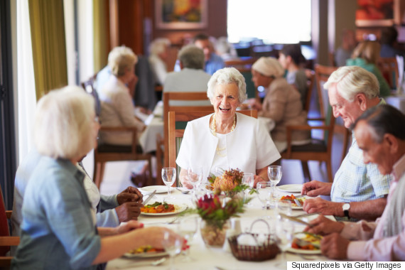 retirement community and happy and senior