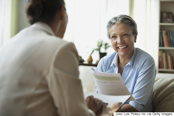senior woman working selling