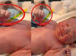 رغم محاولاتها لعدم الإنجاب.. سيدة تضع مولودها ممسكاً بوسيلة لمنع الحمل