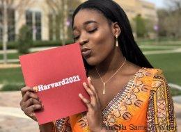 Sans cavalier pour le bal des finissants, elle y va avec sa lettre d'acceptation pour Harvard