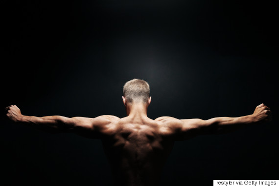 naked man exercise