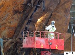 세월호 침몰해역서 사람뼈 1점이 발견됐다