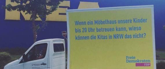 FDP PLAKAT VOR IKEA