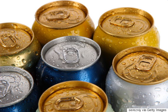 carbonated beverages can