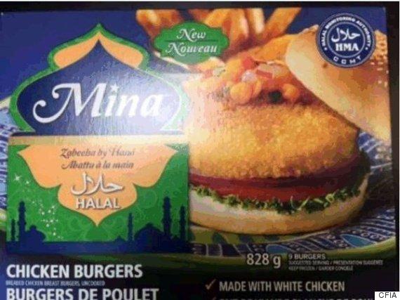 chicken burger recall