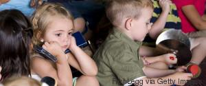 SAD KIDS IN KINDERGARTEN