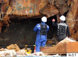 세월호 4층서 '거의 온전한 형태'의 사람 뼈 발견