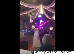 Newlyweds Trade Traditional First Dance For Star Wars Duel