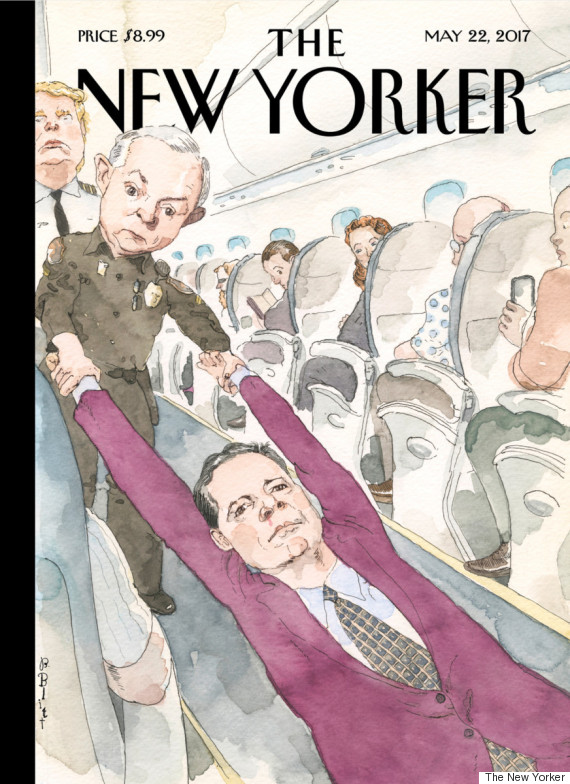 couverture new yorker trump comey