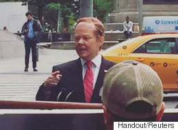 'Sean Spicer' Spotted Riding Motorized Podium Around NYC
