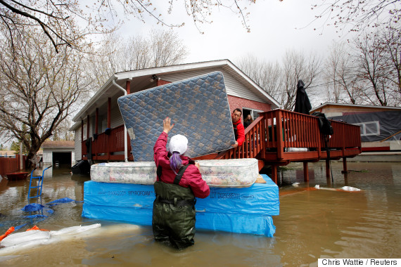 flooded home quebec