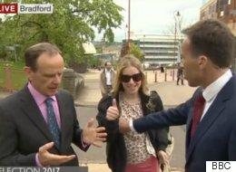 BBC기자가 생방송 방해하는 행인을 제지하려다 큰 실수를 했다