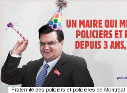 Les policiers de Montréal se moquent de Denis Coderre