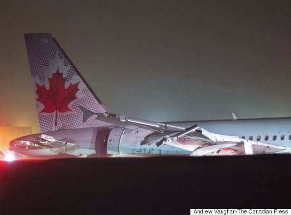air canada crash landing