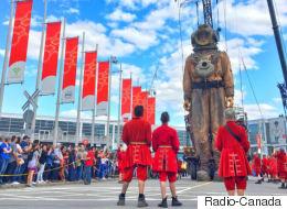 Voyez des géants envahir les rues de Montréal