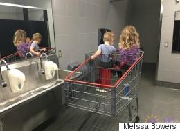 An die Frau in der Kaufhaus-Toilette: Ja, ich habe Kinder - wir stehen nun mal manchmal im Weg