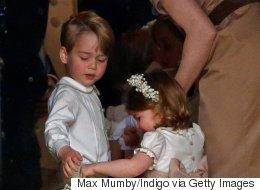 조지 왕자, 샬럿 공주가 결혼식 화동으로 나서다