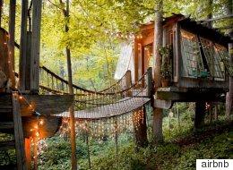 숲속으로 숨고 싶은 이들을 위한 트리하우스 숙소 12