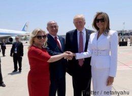 Trump kommt in Israel an – die ersten Bilder des Präsidenten sorgen für Irritationen