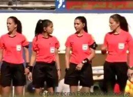 Un corps arbitral 100% féminin pour un match de 2eme division, une première pour le football tunisien (VIDÉO)