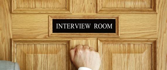 JOB INTERVIEW SIGN DOOR