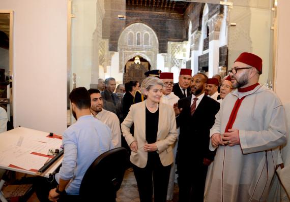 Le roi Mohammed VI inaugure les médersas restaurées de Fès