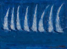Η ζωγράφος Λίτσα Κασούμη μας παρουσιάζει την «Μπλε Παλέτα» της