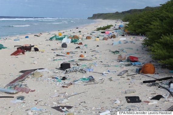 plastic pacific island