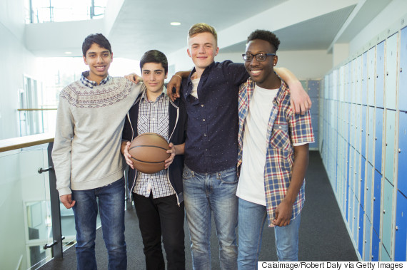 group of teen boys