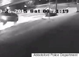 B.C. Police Share Disturbing Video Of Impaired Driving Crash