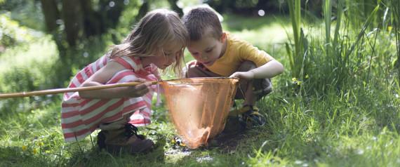 CHILDREN PLAYING NATURE
