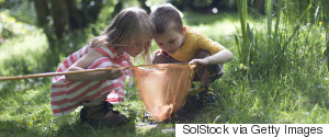 CHILDREN PLAYING NATURE