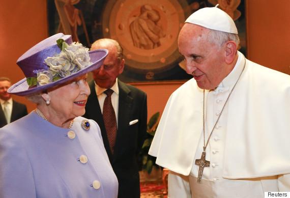 queen elizabeth ii pope francis