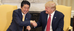 DONALD TRUMP SHINZO ABE HANDSHAKE
