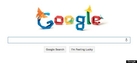 Akira yoshizawa google logo honors origami master huffpost for Doodle for google template