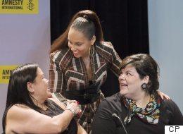 Canada's Indigenous Activists, Alicia Keys Share Human Rights Award
