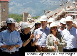 Trudeaus Visit Earthquake-Devastated Town Of Amatrice