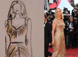 Les plus belles tenues de Cannes en PHOTOS et dessins