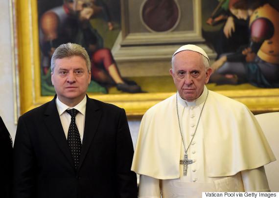pope francis gjorge ivanov